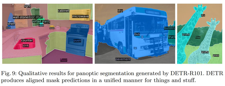 Panoptic segmentation